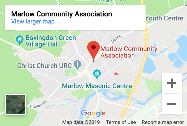 Google Map showing Marlow Community Association